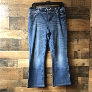 Denim - INC Denim Medium Wash Curvy Fit Bootcut Jeans
